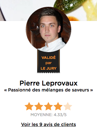 Chef Pierre Leprovaux