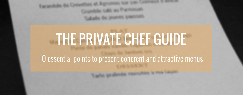 private chef guide