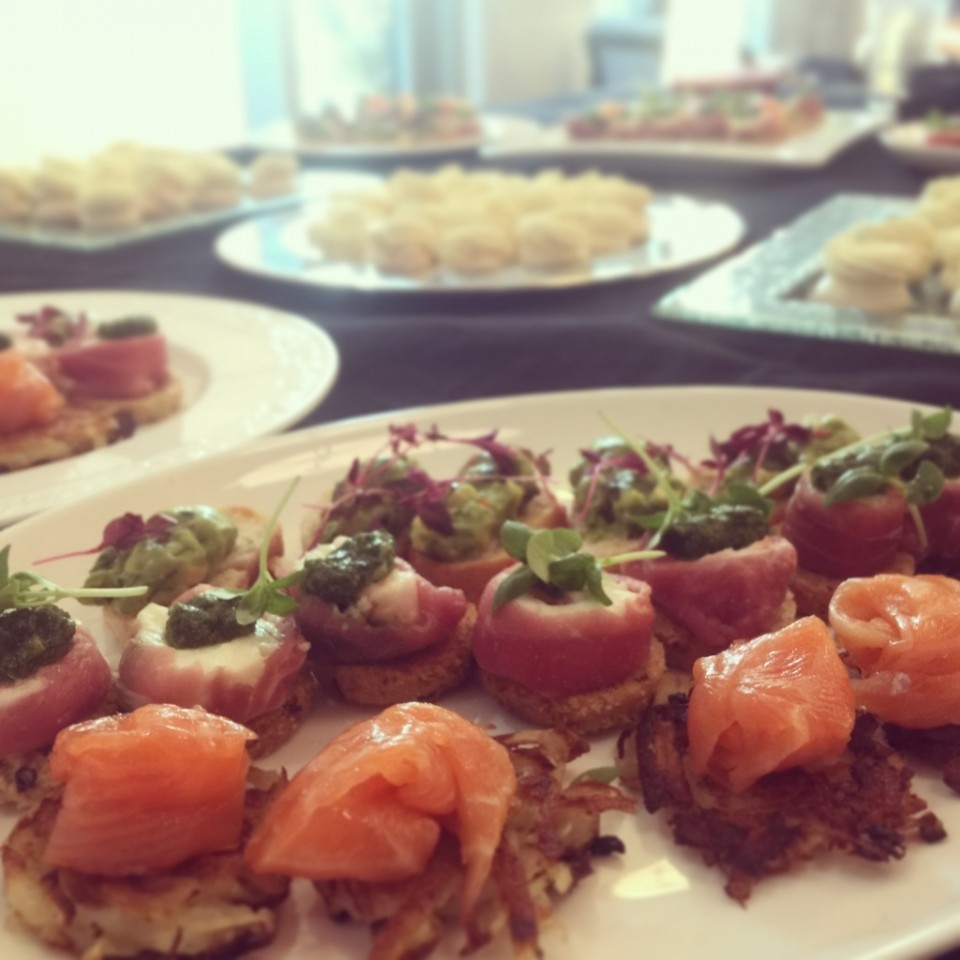 Canapés at the Food StartUp School provided by La Belle Assiette.