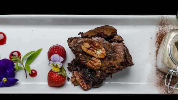 pecan and maple brownie