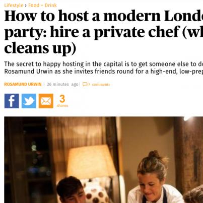 London Evening Standard La Belle Assiette