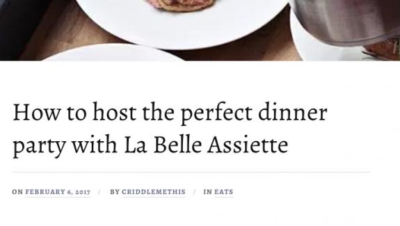 La Belle Assiette press round up