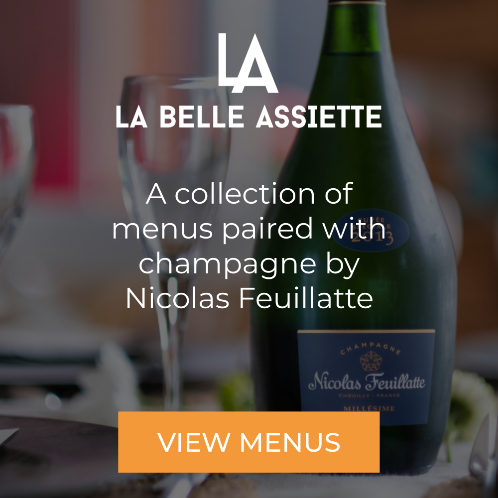 Collection of menus with Nicolas Feuillatte