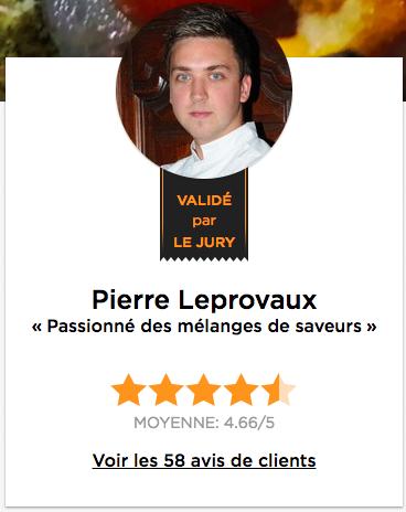 chef à domicile Versailles